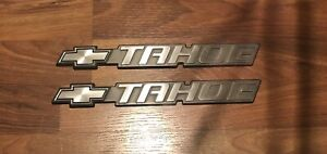 2000 2006 Chevrolet Tahoe Pair Side Rear Emblem Logo Badge Sign Name 10074