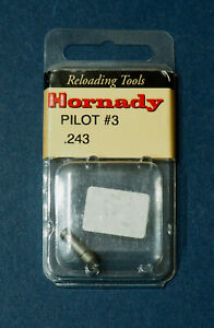 Hornady Trimmer Pilot #03 90945 .243quot; Dia NEW in package $8.99
