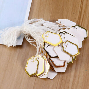 500pcs Paper Price Label Hanging Tags Watch Jewelry Price Label For Sale Display
