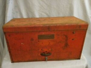 Vintage Snap On Tools 6 Drawer Tool Box Top Chest With Key Snap On