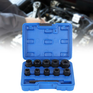 3 8in Damaged Nut Remover Stud Extractor Set Broken Screw Removal Tool Kit