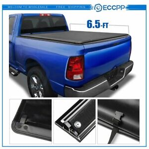 6 5 Soft Truck Vinyl Bed Tonneau Cover For 2003 2018 Dodge Ram 1500 2500 3500