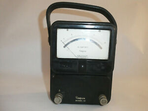 Vintage Simpson Model 10 Ac Amperes Meter W handle
