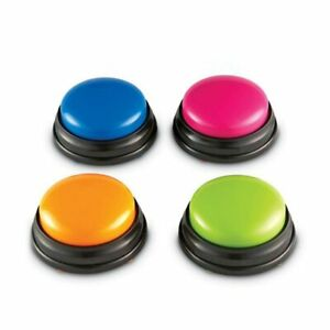 Recordable Talking Button Alarm Game Answer Buzzer Button Kid Learning Voice Toy