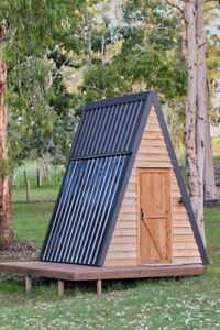 A frame Cabin Weekend Pod Kit 12ft Tall Tiny House Camping Rental Tent Tipi