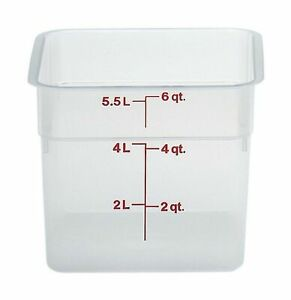 Cambro Camsquare Food Storage Containers Storing Produce Durable Translucent 6qt