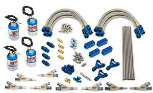 Nos Dry Professional Nitrous System Dual Stage W Eight Fogger Nozzles