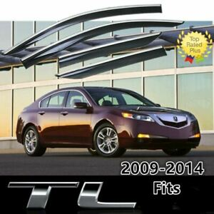 For Acura Tl 09 14 Chrome Trim Window Visor Vent Sun Shade Rain Guard Deflectors