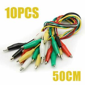 10pcs Alligator Clip Test Lead Set Wg 026 Dual Ended Jumper Wire Cable Tools Us