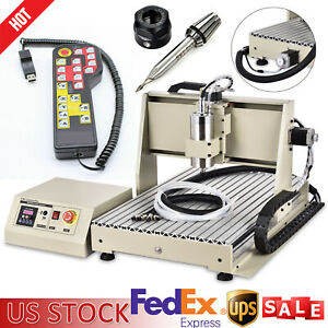 3 Axis 6040 Cnc Router Engraving Milling Machine Metal Engraver Drill Kit 1500w