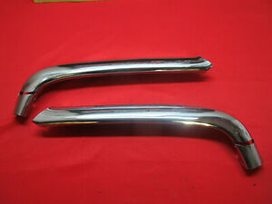1950 Ford Upper Grille Bar Molding Car Shoebox Pair Nors