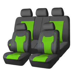 Car Pass Car Seat Cover Sandwich Leather Green Anitidust Luxurious Airbags Fit