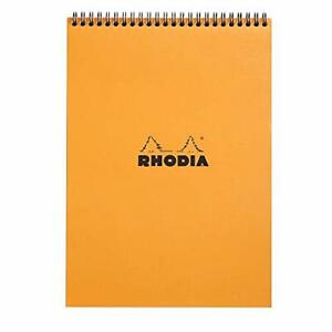 Rhodia Wirebound Pad 8 25x11 75 Lined Orange