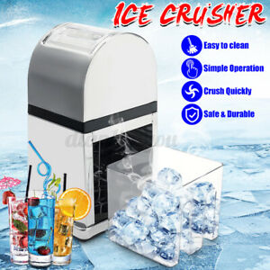 Stainless Steel Manual Ice Crusher Commercial Snow Ice Cone Shaver Machine Maker