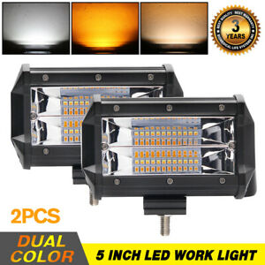 2x 120w 5inch Led Work Light Bar Spot Lamp Offroad Driving Fog 4wd Suv Ute Truck
