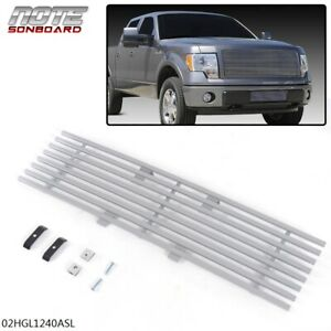 Stainless Steel Lower Bumper Billet Grill Silver For 2009 2014 Ford F 150