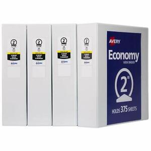 One 1 Avery 2 Economy View 3 Ring Binder Holds 8 5 X 11 Paper