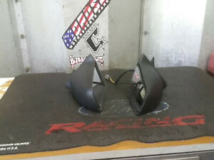 1987 1993 Ford Mustang Hatch notch Power Side Mirrors Set Pair