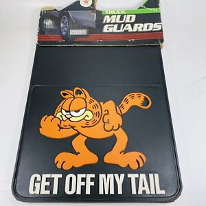 Rare Vintage Garfield Get Off My Tail Truck Mud Flaps Guards Rubber 12 X 18 New