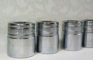 Vintage 1981 Snap on 1 2 Drive 12 point Sae Shallow Socket Set Sw Series 6pc