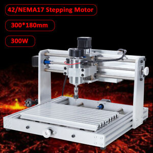 300w 3018 3 Axis Mini Diy Cnc Router Spindle Motor Wood Engraver Milling Machine