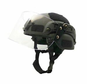 Airsoft MICH 2000 ACH Tactical Helmet with Clear Visor NVG Mount and Side Rai... $60.26