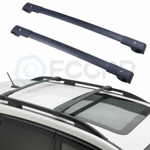For 2016 2017 Subaru Forester Impreza Top Roof Rack Cross Bars Black Carrier