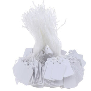 300pcs Label Tie String Strung Ticket Jewelry Merchandise Display Price Tagskly
