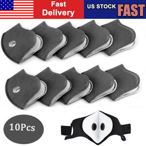 10pc Protective Activated Carbon Filter slice 5 Layers Replaceable Anti Haze Us