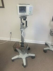Bard Site Rite Iv Ultrasound System With Probe On Rolling Stand