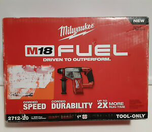 New Milwaukee 2712 20 M18 Fuel 18v Cordless 1 Sds plus Rotary Hammer Drill 1 In