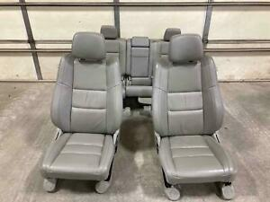 11 13 Jeep Grand Cherokee Front Rear Graystone Gray Leather Seats Trim Uld3