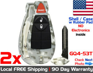 2x New Replacement Keyless Entry Remote Key Fob For Dodge Ram Jeep Shell Only