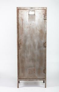 Vintage Metal Locker With 3 Shelves 24 w X 12 d X 66 h X 10 Shelf Depth