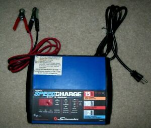 Schumacher 15amp 12v Fully Automatic Battery Charger Ssc 1500a Works Ship Shore