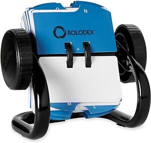 Rolodex Open Rotary Business Card File 250 mini Black
