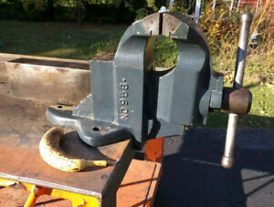 Charles Parker 956 Eclipse Machinist Vise 132 Lbs 10 5 Usa 1940 s Heavy