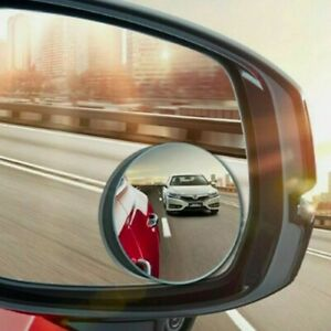 Puzzle 2x Round Blind Spot Mirror Hd Glass Frameless Convex Rear View 360