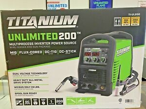 New Titanium Unlimited 200 Ti ul200 Muliprocess Inverter Power Source Welder