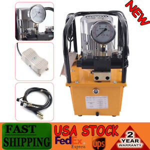 10000psi 110v Electric Driven Hydraulic Pump Double Solenoid Valve Double acting