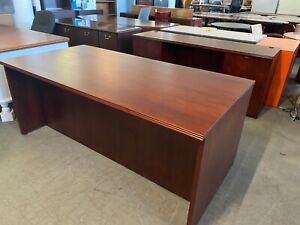 Executive Set Desk Credenza By Kimball Office Furniture In Mahogany Wood