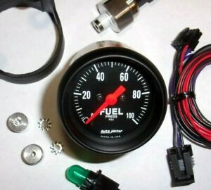 Autometer 2663 Z Series 2 1 16 Electric Fuel Pressure Gauge 0 100 Psi Nice
