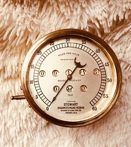 Early Antique Stewart Speedometer Brass Model 26 B Series 1908 1910