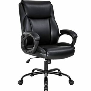 Office Desk Task Leather Chair Lumbar Support Arms High Back Executive Ergonomic
