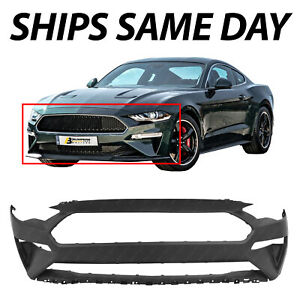 New Primered Front Bumper Cover Fascia For 2018 2020 Ford Mustang Bullitt Gt