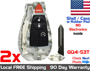 2x New Replacement Keyless Entry Remote Key Fob Case For Dodge Ram Jeep Shell