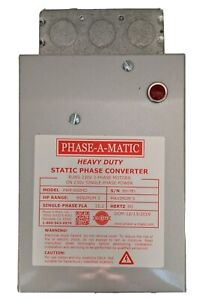 Phase a matic Pam 600hd Heavy Duty Static Phase Converter 3 To 5 Hp
