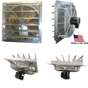 1785 Cfm Shutter Exhaust Fan Wall Mounted