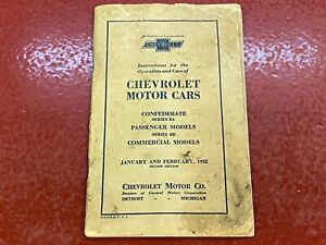 1932 Chevrolet Instruction Book Owners Manual