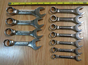 Usa Made Craftsman Metric Stubby Short Wrench Set Professional Polished 11pc